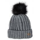 Roadsign Strickmütze Fake-Fur Bommel, grau melange