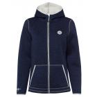 Ladies Knitted Fleece Jacket, navy