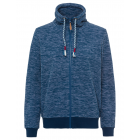 Ladies fleece jacket melange, navy