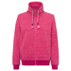 Ladies fleece jacket melange, pink