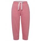 Pantaloni della tuta 3/4 da donna, corallo-melange