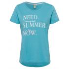 """damska T-Shirt """"potrzebuję teraz lata"""", niebieski,"""