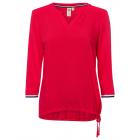 Camicia da donna in misto ciliegia, rosso, taglia