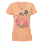 Women T-Shirt When I met you, apricot, sorted G