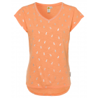 Les femmes T-Shirt Ananas, abricot, tailles assort