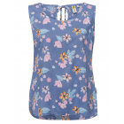 Top chemisier femme Happy Flowers, bleu, taille as