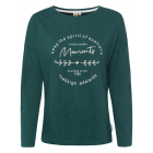 Ladies long sleeve shirt Adelaide, dark green, ass
