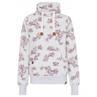 Damen Tubesweatshirt Flowers allover, XL, schnee-m