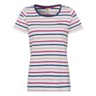 Ladies T-Shirt striped, white / red / navy, assort