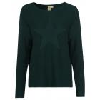 Ladies knitted sweater Star, dark green, assorted