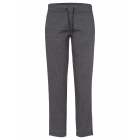 Ladies jogging pants with glitter tape, gray-lengt