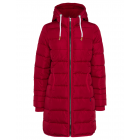 Ladies quilted jacket long, red, assorted sizes