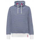 Damen Tubesweatshirt Striped Love, marine/weiß/gra