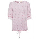 Ladies blouse shirt Stars, pink / coral, assorted