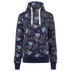 Women's sweatshirt Tube Flowers AOP, M, navy