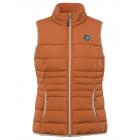 Ladies' quilted vest, cognac, assorted sizes