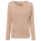 Women's stripes long-sleeved top off-white-cog