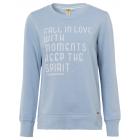 Women's sweatshirt Fall in love, light blue, a