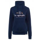 Women sweatshirt Tube be responsible, navy, sortie