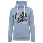 Damessweatshirt Tube City love, lichtblauw, sort