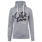 Ladies sweatshirt Tube City love, gray melange, so