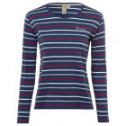 Ladies' striped shirt, navy, assorted sizes