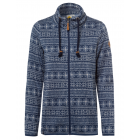 Women's knitted fleece jacket AOP Snow Flake,