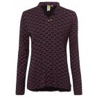 Ladies blouse shirt AOP paisley, black, assorted