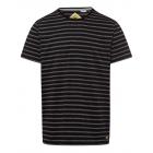 signori T-Shirt Strisce, nero