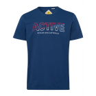 Men's T-Shirt Active, marine, assorted sizes