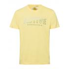 Mężczyzn T-Shirt Aktywne, żółte, różne rozmiary