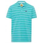 Men's polo shirt stripes, petrol / blue, assor