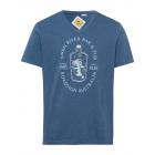 Camicia da uomo con stampa Swan River, blu, taglia