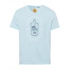 Men's Swan River print shirt, ice blue, assort