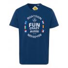 Camicia da uomo con stampa Fun Aussie, marina, tag