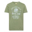 Camicia da uomo con stampa Genlteman Rules, kaki,