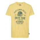 Chemise imprimée homme Genlteman Rules, jaune, ass