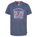 caballeros T-Shirt Amanecer, melange marino, surti