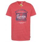messieurs T-Shirt Lever du soleil, mélange rouge,