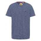 signori T-Shirt Strisce da vela, blu scuro / bianc