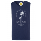 Pour des hommes Tank Top Henly Beach, marine, tail