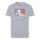 Mężczyzn T-Shirt , szary melanż, różne rozmiary