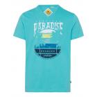 Herren T-Shirt V-neck Paradise, lagoon, sortierte