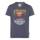 Uomini T-Shirt Paradiso scollo a V, antracite, ord