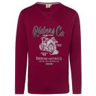 Men's long-sleeved shirt Riders Club, bordeaux