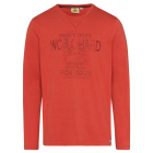 Men's long-sleeved shirt Work Hard, orange, as