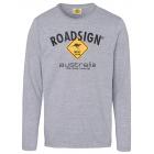 Men's longsleeve logo Roadsign , L, gray melan