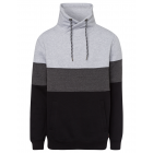 Men's sweatshirt tube color blocking, black /