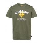 Herren Logo T-Shirt Raute, 2XL, khaki
