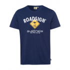 Herren Logo T-Shirt Raute, 4XL, marine
